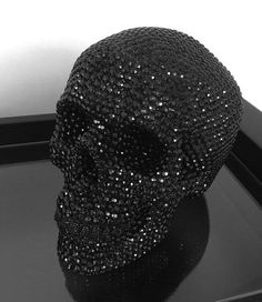 Black Rhinestone Skull - Haus of Skulls Gray Aesthetic, Black Aesthetic Wallpaper, Black And White Aesthetic, Black Wallpaper, Aesthetic Photo, Aesthetic Pictures, Black And White Picture Wall, Black And White Pictures, Goth Home Decor