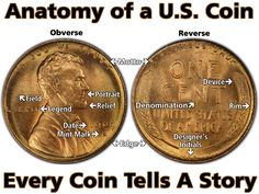 There is a common coin language in numismatics. Rare Coins Worth Money, Valuable Coins, Mint Coins, Silver Coins, Rare Pennies, Wheat Pennies, American Coins, Coin Worth, Error Coins