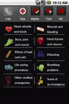 First Aid App for Android  If I was still working in education this would definitely be an app on my phone!