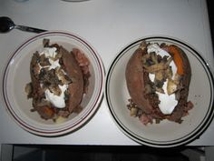 Loaded Baked Sweet Potato with Greek yogurt & nutritional information!!!