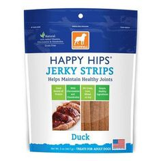 DOGSWELL HAPPY HIPS USA MADE DUCK JERKY STRIPS 12OZ - BD Luxe Dogs & Supplies
