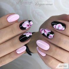 Acrylic Nail Art For More Beautiful Nails Creative Nail Designs, Cute Nail Designs, Creative Nails, Stylish Nails, Trendy Nails, Cute Nails, Floral Nail Art, Acrylic Nail Art, Beautiful Nail Art