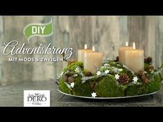 DIY: Adventskranz aus Naturmaterial mit Moos & Zweigen [How to] Deko Kitchen - YouTube