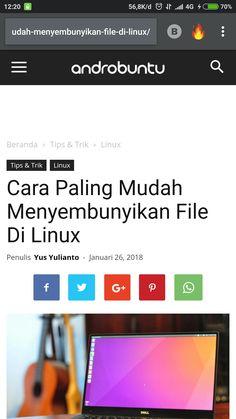 Cara paling mudah menyembunyikan file di Linux. Baca selengkapnya di androbuntu.com