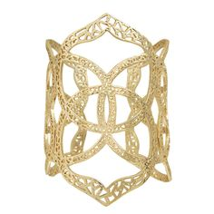 """A multitude of Kendra Scott medallions form together to create an airy cuff. Easily adjustable, this piece is perfect for everyday wear! - 14K Gold Plated Over Brass - Size: 3.38""""H - Open, adjustable"""