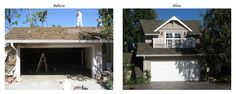 BeforeAfter room addition images in Los Angeles.. MDM Custom Remodeling Inc.