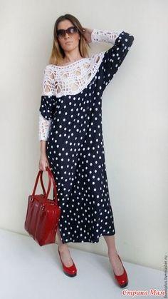 . Для вдохновения на лето... - Вязание - Страна Мам Modest Fashion, Boho Fashion, Womens Fashion, Nice Dresses, Girls Dresses, Bohemian Mode, Crochet Fashion, Beautiful Crochet, Crochet Dresses