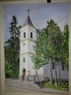 Temple church painting