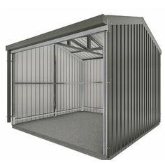 2x4 Basics Barn Roof Enclosure Kit (BRACKETS ONLY) & Reviews | Wayfair Metal Storage Sheds, Metal Shed, Metal Garages, Built In Storage, Lp Smart Siding, Garbage Shed, Bike Shed, Steel Panels, Tool Sheds