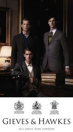 If only l could afford to have a custom tailored suit from Savile Row.