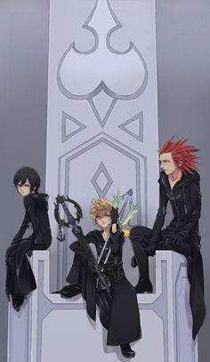 Kingdom Hearts Axel Roxas and Xion