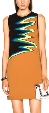 'Osha Wave' Knit Dress-Black/Caramel