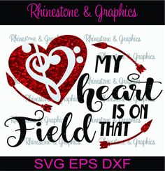 My Heart is on That Field Band Heart Pattern Instant Download SVG EPS DXF Cutting file by RhinestoneandGraphic on Etsy
