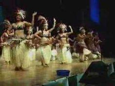 """Rarotonga - Cook Island dancing. (The origin of """"Tahitian"""" dancing and drumming)"""