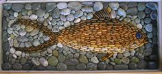 Fish Pebble Mosaic By Karin Currie, Otaki, New Zealand.