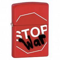 Zapalniczka Zippo Stop War, Red Matte