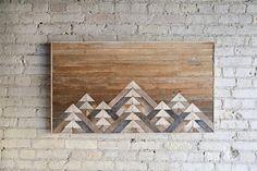 Reclaimed Wood Wall Art Wall Decor or Twin Headboard Lath Reclaimed Wood Wall Art, Salvaged Wood, Wood Art, Cosy Interior, Interior Design Living Room, Twin Headboard, Headboards, Wall Art Designs, Wall Art Decor