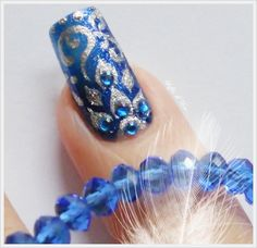 """Nail Art """"Arabesque"""" - dettaglio -"""