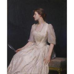 """The Mirror,"" Dennis Miller Bunker, 1890, oil on canvas, 50 3/8 x 40 3/8"", Terra Foundation for American Art:"