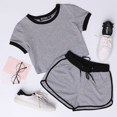 Keep fit,and pretty.⠀ 👉Shop link in bio⠀⠀⠀⠀⠀⠀⠀⠀⠀ 🔍Search(top) 🎁 OFF discount code: 👉 off if order over… Cute Lazy Outfits, Sporty Outfits, Outfits For Teens, Summer Outfits, Girl Outfits, Fashion Outfits, Cute Sleepwear, Pajama Outfits, Cute Pajamas