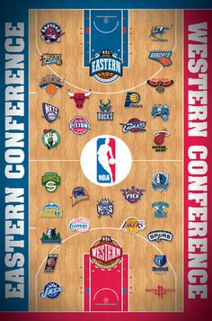 NBA Basketball Team Logos Photo Posters Pictures (No Golden State? Nba Basketball Teams, Basketball Is Life, Basketball Leagues, College Basketball, Basketball Floor, Basketball Quotes, Kentucky Basketball, Kentucky Wildcats, Nba Pictures