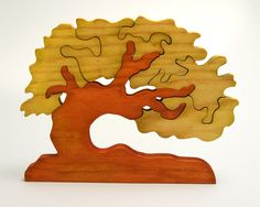 Escandinavian Tree of Wishes - Good Luck Gift - Wooden Home Decor Puzzle - Chestnut - pinned by pin4etsy.com