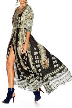 CAMILLA TORERO BATWING WRAP DRESS 2
