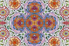 beautiful floral background I created form a page in my coloring book and tweaked in Photoshop.  Pretty? I think so!