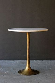 Round Brass Coffee Table With Marble Top Rockett St George