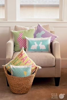 What's Fun and Cute and Pastel all over? - Easter Pillows Covers