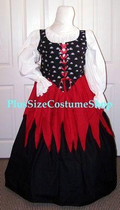 Plus size renaissance dress 4x long sleeve