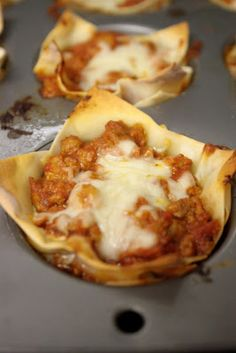 Mini lasagna cups / weight watchers 4pts+per cup/ from life in the greenhouse