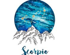 Aquarius  Zodiac Watercolour Painting by PickledCherryblossom