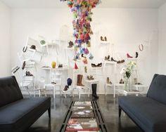 Expositor de calçados diferente