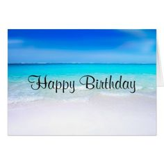 Tropical Beach With A Turquoise Sea Birthday Card