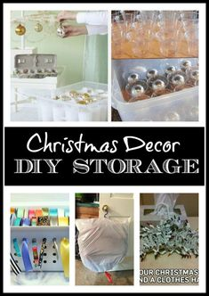 DIY Storage Ideas for Christmas Decor from The Everyday Home:   Don't spend a lot of money on storage when you can utilize some common household goods to accomplish the same thing.
