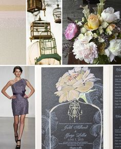 Gray and Blush Sophisticated Wildflower Wedding Inspiration
