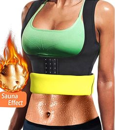 b6f039ca33 Amazon.com  Kimikal Women Neoprene Sauna Sweat Waist Trainer Vest for  Weight Loss Workout