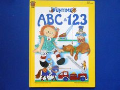 Funtime ABC and I23 a Vintage Children's by lizandjaybooksnmore