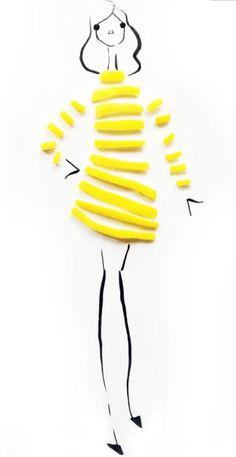 Sonia Rykiel Resort 2016 with lemon peels, by Gretchen Roehrs: