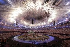 London 2012 opening ceremony: Stunning 60ft blazing 'flower of fire' sets off Olympic Games - Mirror Online