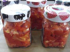 Zavárané paradajky pre lenivcov (fotorecept) Salsa, Spices, Smoothie, Canning, Food, Spice, Essen, Smoothies, Salsa Music