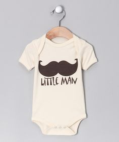 Oatmeal 'Little Man' Organic Bodysuit - Infant #zulily #fall