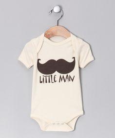 Oatmeal 'Little Man' Organic Bodysuit - Infant #zulily #fall