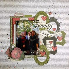 Generations Christmas Paper, Christmas Photos, Scrapbooking Layouts, Scrapbook Pages, Family Photos, My Photos, Texture Paste, Foil Paper, Christmas Traditions