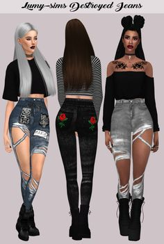 LumySims: Destroyed Jeans • Sims 4 Downloads