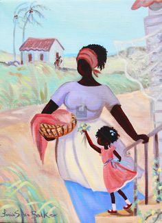 Caribbean Art - Janice Sylvia Brock - A Childs Gift
