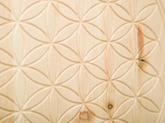 "Holzbild mit Fräsung ""Blume des Lebens"" Pattern, Flower Of Life, Wall Decorations, Geometry, Home Accessories, Wall Murals, Flowers, Table Desk, Products"