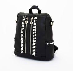 Parris Korean Bag, tas ransel import. Tali bahu dan ransel. Kiri kanan ada saku. Good quality. Hitam. Uk 29x14x31