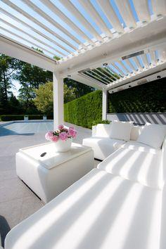 Pergola For Small Backyard Outdoor Areas, Outdoor Rooms, Outdoor Living, Outdoor Decor, Aluminum Pergola, Backyard House, Modern Pergola, Outside Living, Pergola Shade